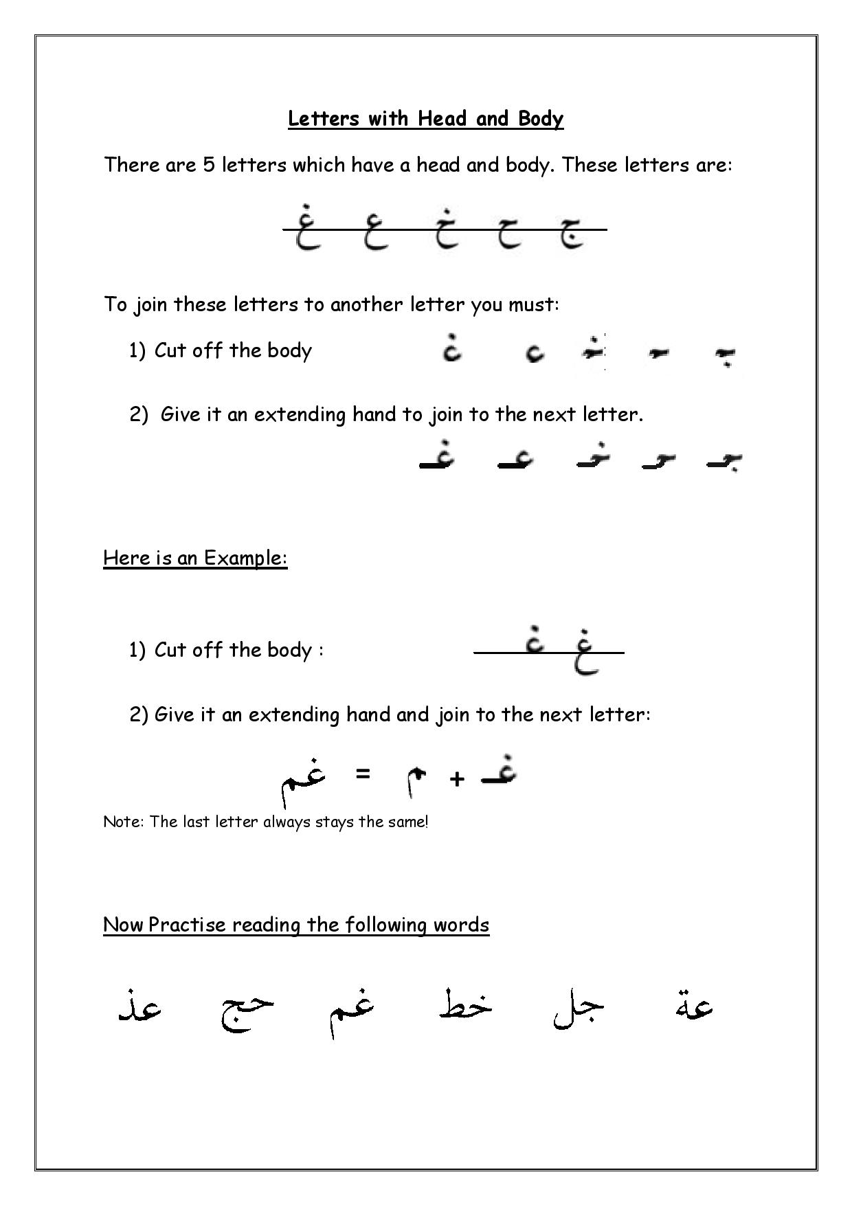 arabic alphabets | Arabic Adventures