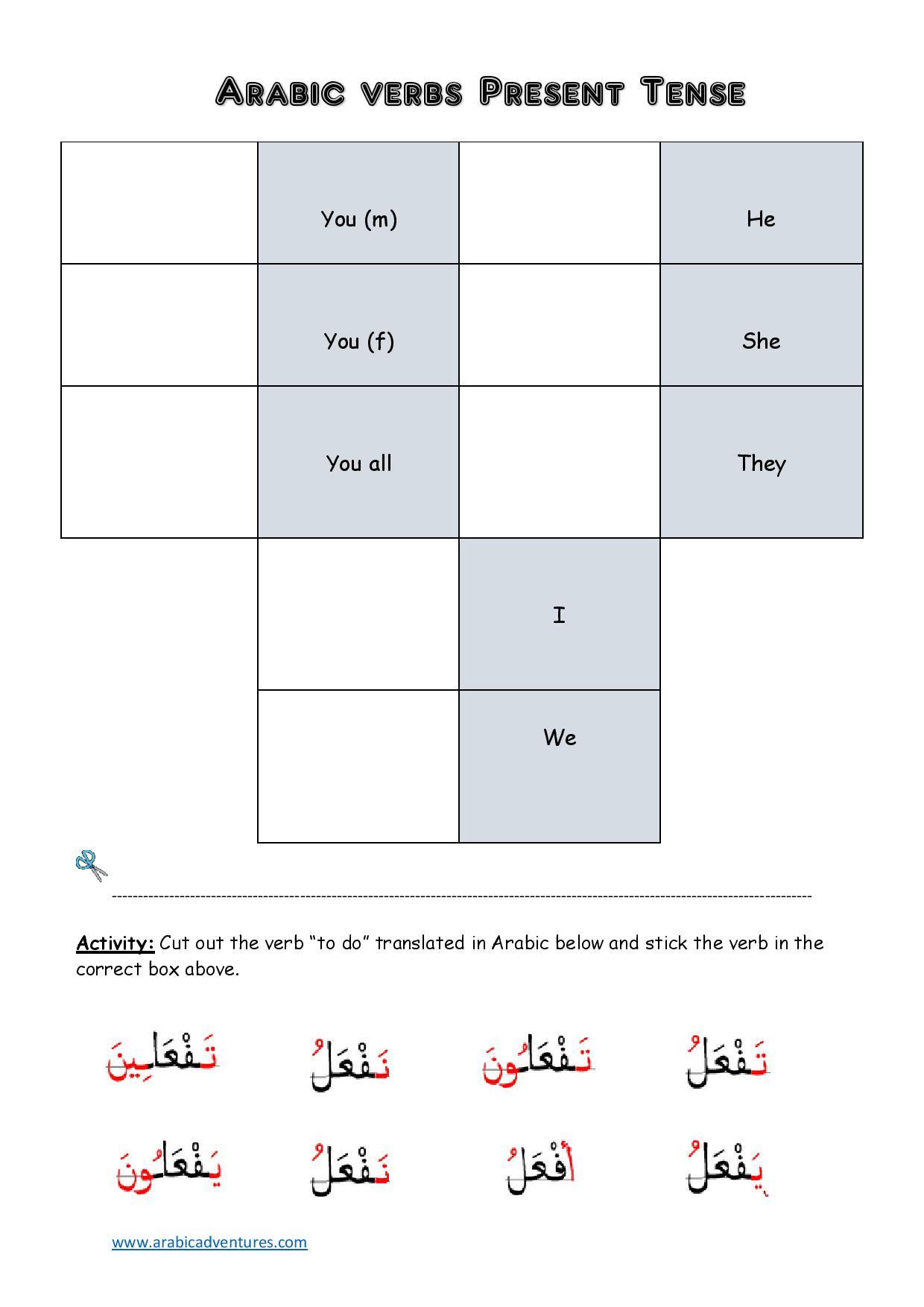 Fi'il mudari' | Arabic Adventures