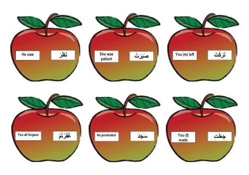 Past tense apples matching game-page-003